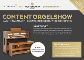 Orgelshow urk - advertentie